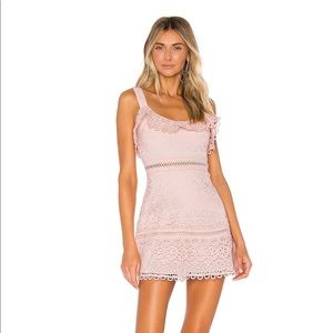 NWT Lovers + Friends Happy Hour Mini Dress Pink
